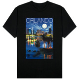 Orlando, Florida - Skyline at Night T-shirts