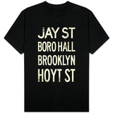New York City Brooklyn Jay St Vintage T-shirts