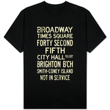 New York City Times Square Broadway Vintage T-Shirt