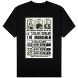 John Wilkes Booth Replica Wanted Shirts