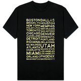 National Basketball Association Cities Vintage Style T-shirts