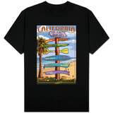 Southern California Beaches - Destination Sign T-shirts