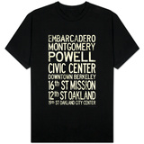 San Francisco Oakland BART Stations Vintage T-Shirt
