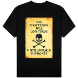 Beatings Will Continue Until Morale Improves Distressed Camiseta