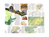 1991 The Making of Canada, Quebec Theme Posters by  National Geographic Maps