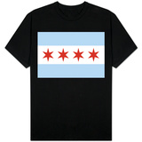 Bandiera di Chicago T-Shirts