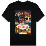 Las Vegas Casinos and Hotels Montage T-Shirt