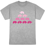 Pink Counting Elephants T-shirts
