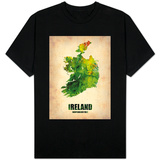 Ireland Watercolor Map Shirts
