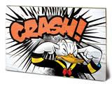 Donald Duck - Crash Wood Sign Znak drewniany