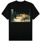Daniel in the Lions Den, Mezzotint by J. B. Pratt, with Hand Colouring Skjorter