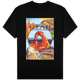 Utah National Parks - Delicate Arch Center T-shirts