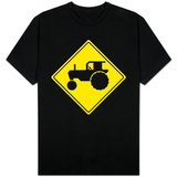 Tractor Crossing Sign T-shirts