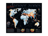 2006 Danger Zones, Earthquake Risk, a Global View Posters by  National Geographic Maps