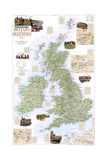 2000 A Traveler's Map of Britain and Ireland Posters by  National Geographic Maps