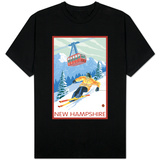 New Hampshire - Skier and Tram T-Shirt