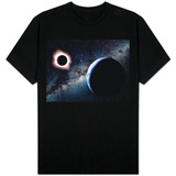 Earth and Total Eclipse Seen from Space Shirts