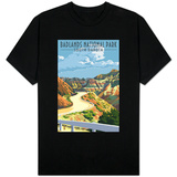 Badlands National Park, South Dakota - Road Scene Shirts