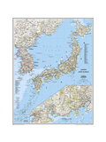 National Geographic Maps - 2011 Japan and Korea Map Plakát