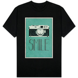 Smile Retro Camera T-Shirt