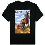 Kentucky - Horse Racing Track Scene Shirts