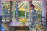 Childe Hassam The Goldfish Window Poster Posters