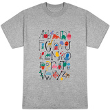 Cute Alphabet with Illustrations T-shirts