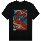 Octopus - Paper Mosaic T-shirts