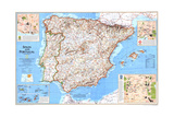 1998 Spain and Portugal Prints by  National Geographic Maps