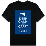 Keep Calm and Carry A Gun T-Shirts