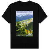 Glacier National Park - Going to the Sun Road and Hikers T-Shirt
