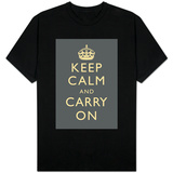 Keep Calm and Carry On (Grey) T-shirts