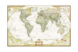 2005 World Executive Spanish Map Posters