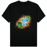Crab Nebula Space Photo T-shirts
