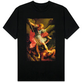 The Archangel Michael Defeating Satan T-shirts