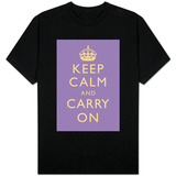 Keep Calm and Carry On (Lilac) T-Shirt