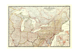 1953 The Great Lakes Region of the United States and Canada Print by  National Geographic Maps