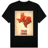 Texas Watercolor Map Shirts