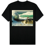 Surf Crashing near Surfer on Boulders Shirts