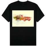 Ford Mustang Watercolor Shirts
