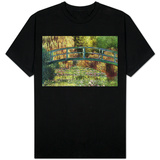 Claude Monet Le Pont Japonais Japanese Bridge at Giverny T-shirts