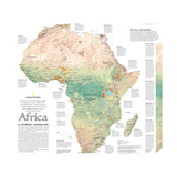 2005 Africa, A Storied Landscape Map Poster by  National Geographic Maps
