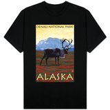 Caribou Scene, Denali National Park, Alaska T-shirts
