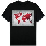 World  Map 9 T-shirts