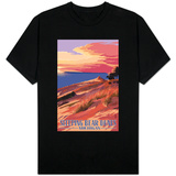 Sleeping Bear Dunes, Michigan - Dunes Sunset and Bear T-Shirt