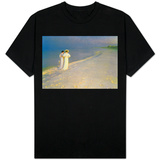 Summer Evening on the Skagen Southern Beach with Anna Ancher and Marie Kroyer, 1893 T-Shirt