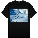 Snowboarder Riding in Powder Snow, Austria, Europe T-Shirt