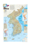 2003 The Two Koreas Prints by  National Geographic Maps