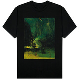 Nocturne in Black and Gold, the Falling Rocket, C.1875 (Oil on Panel) T-shirts