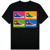 All Star Sneakers Pop Art Shirts